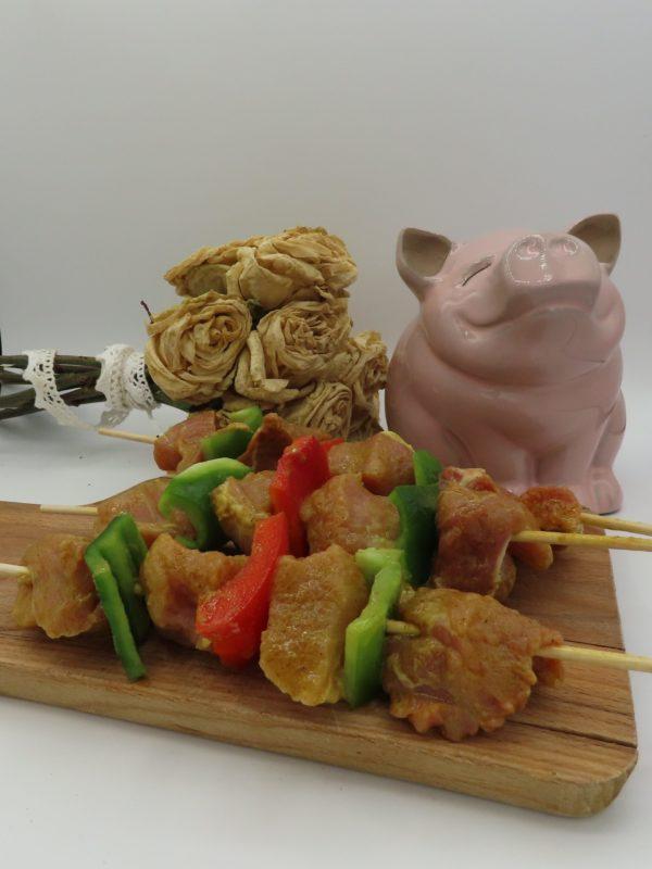 Brochette de porc Curry